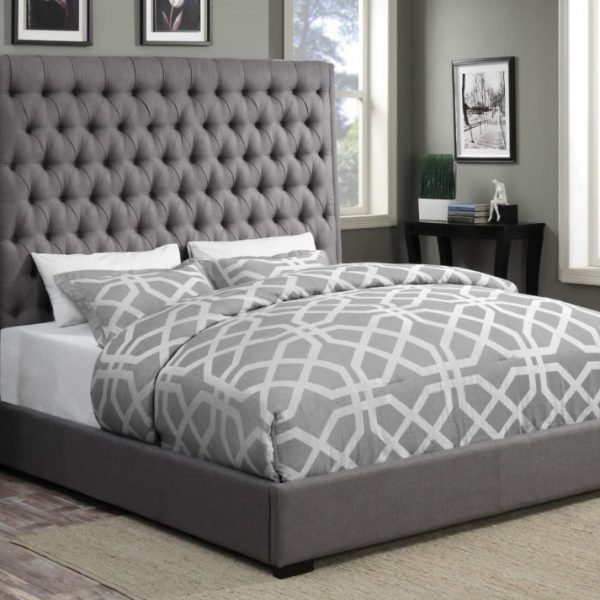 camille_grey fabric 300621 bed