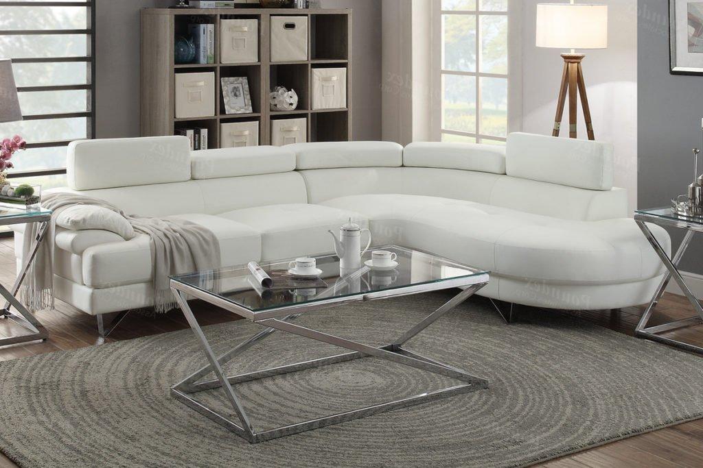 Zesta white sectional sofa