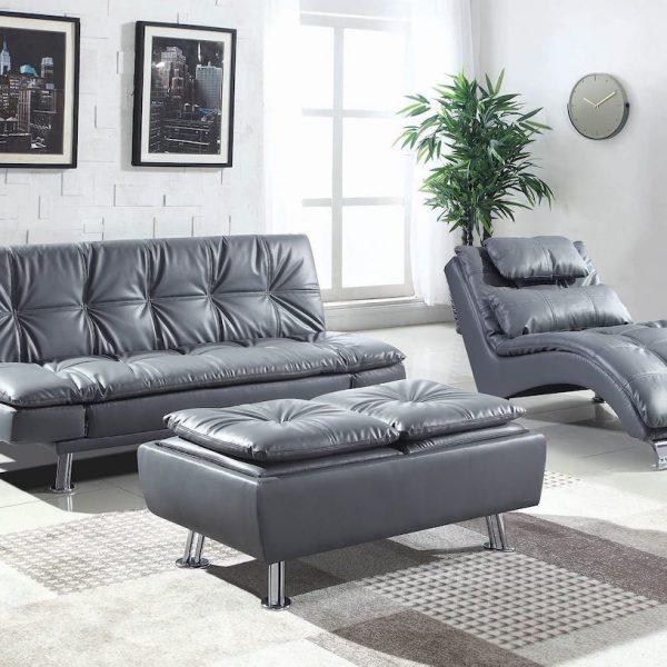dilleston grey leather 3 pc sofa set 550029_20
