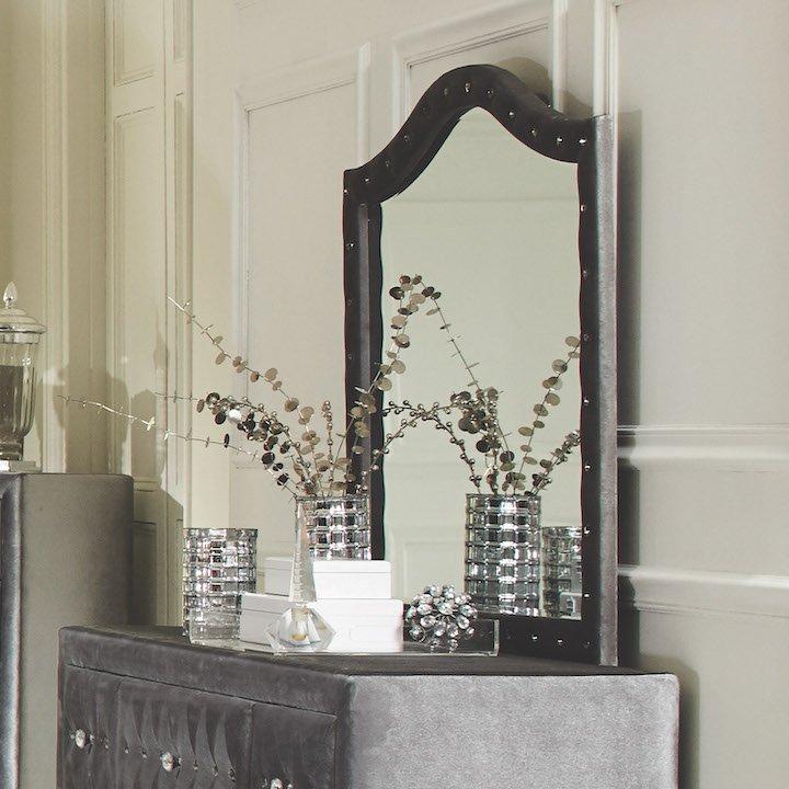 deanna grey velvet coaster mirror 205104_20