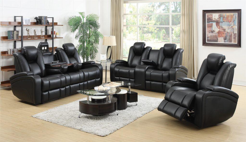 delange black leather 601741P 601742P.601743P