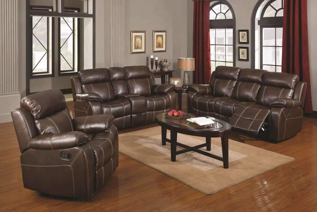 Myleene Brown Leather Reclining Living, Brown Leather Reclining Sofa
