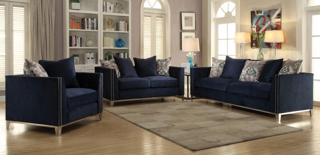 phaedra 52830, 52831, 52832 navy blue sofa