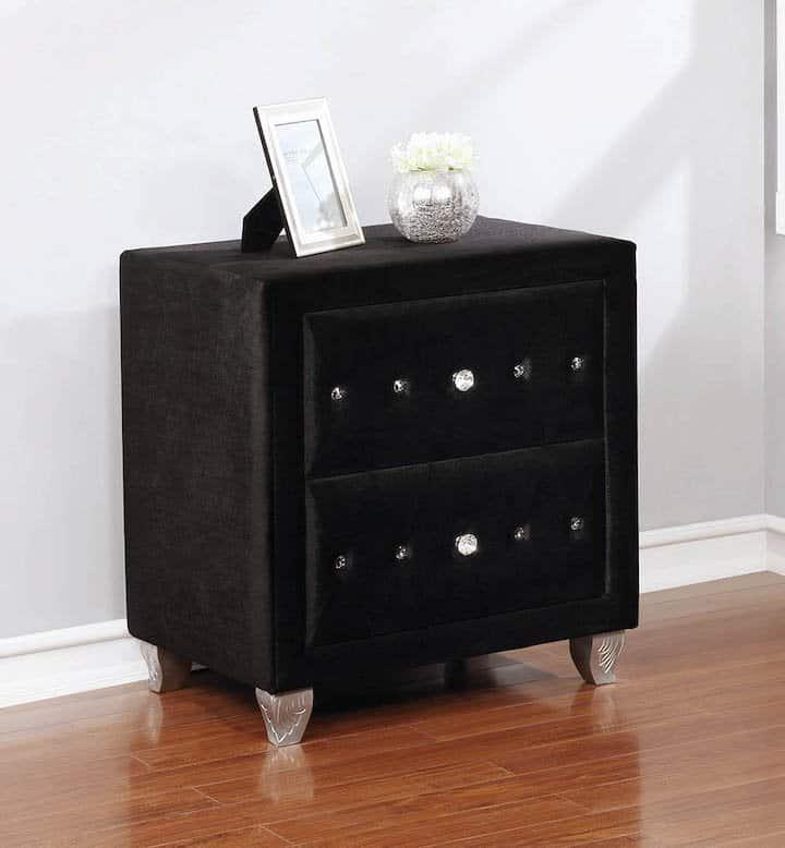 206102 black deanna nightstand