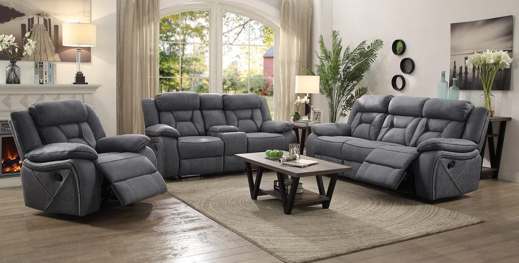 Houston Microfiber Reclining Living, Microfiber Sofa Sets