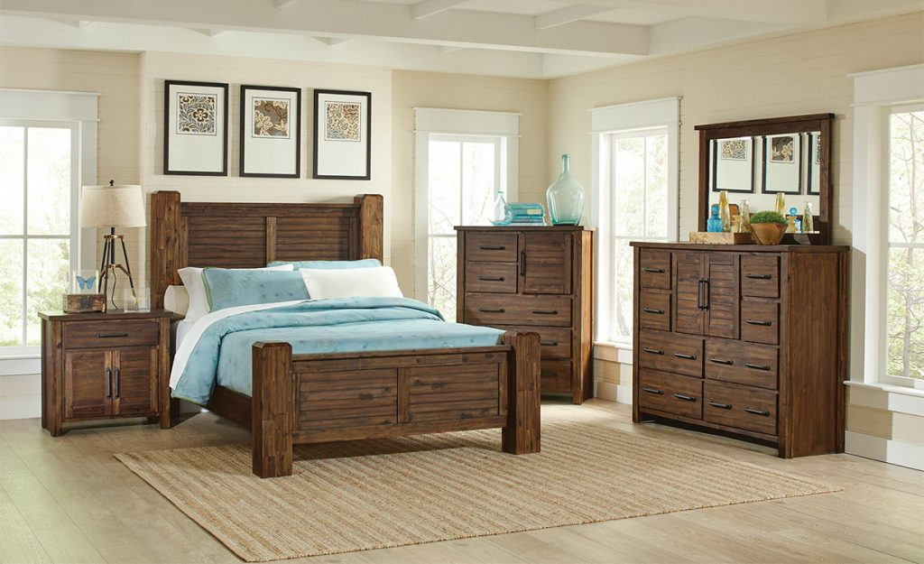 Sutter Creek Rustic Solid Wood Bedroom Set Kfrooms Free Delivery