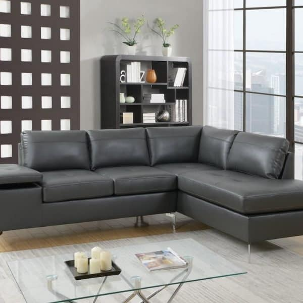 6520 grey sectional sofa