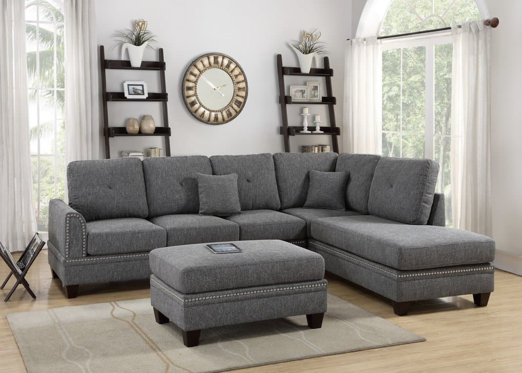 Picture of: Mercury Cotton Blended Sectional Sofa Kfrooms Furniture Sale