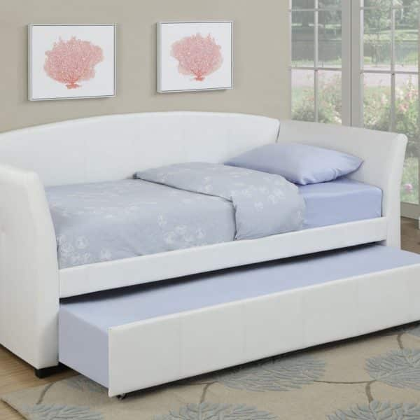 F9259 white twin day bed