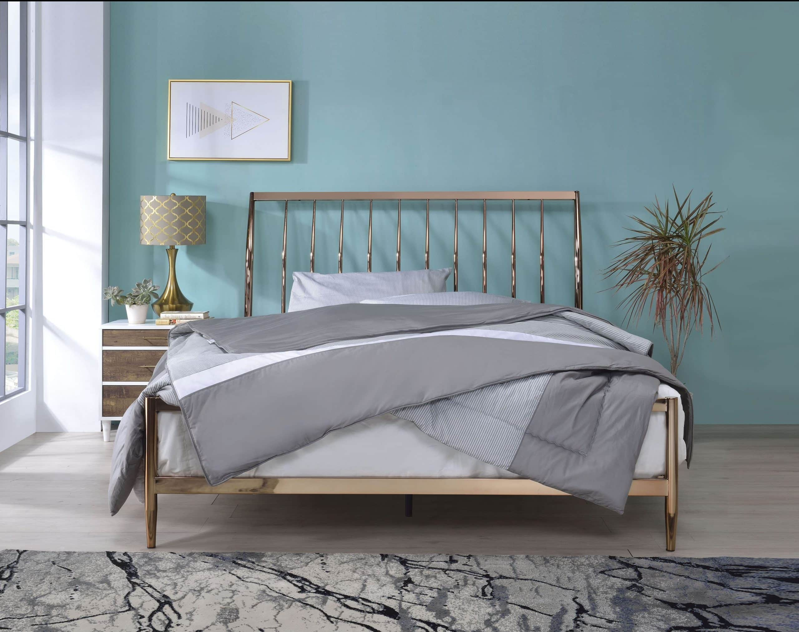 Marianne Contemporary Copper Queen Bed