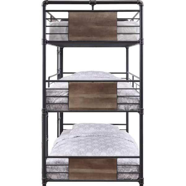 brantley triple bunk bed 37820 acme