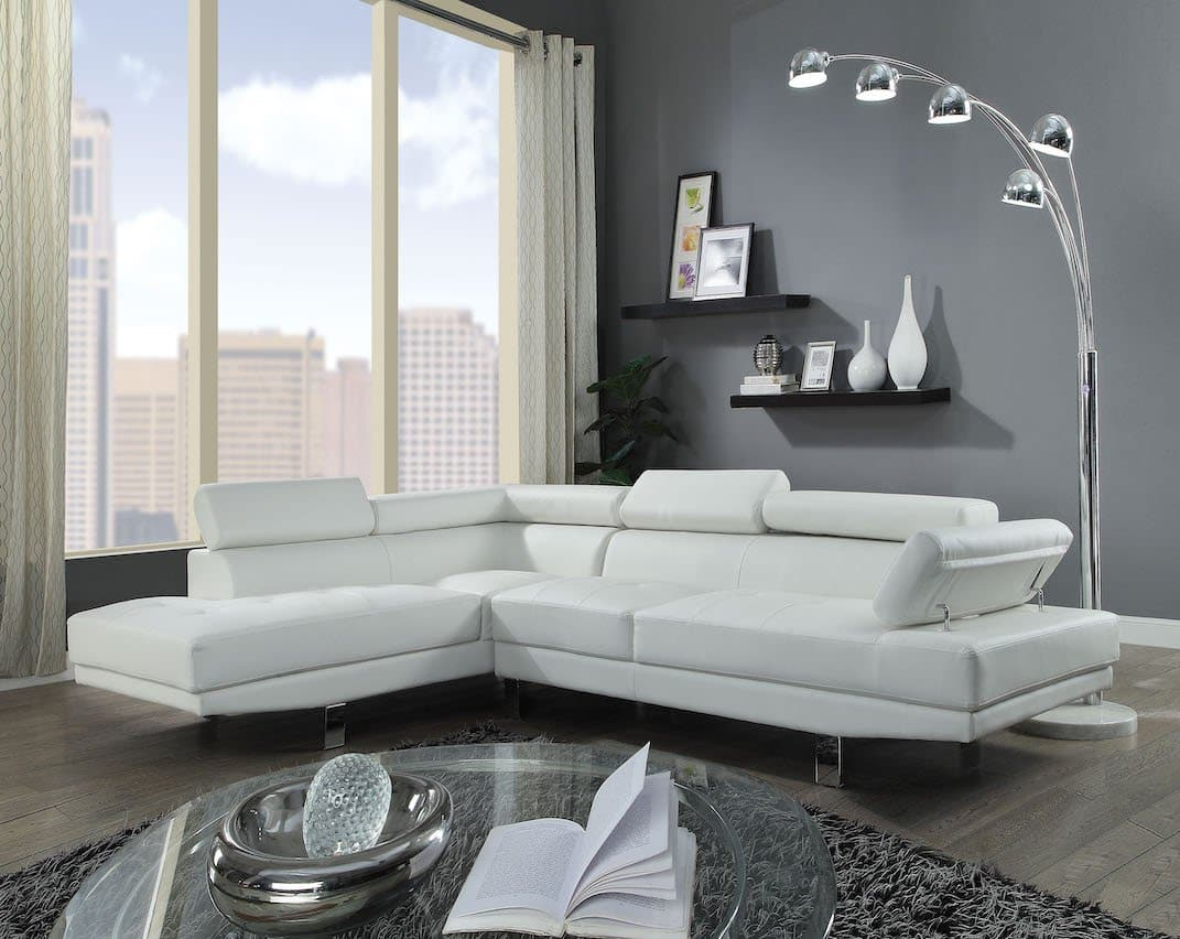 Connor Leather Sectional Sofa Kfrooms