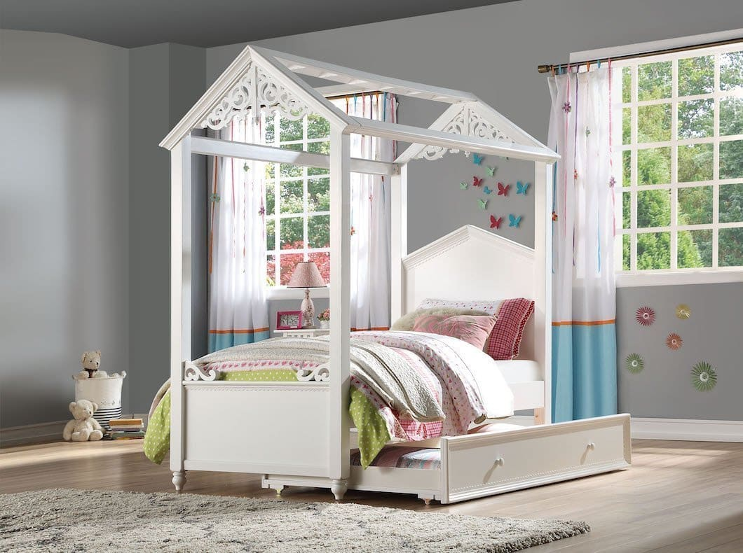 Rapunzel House Wood Bed Kfrooms The Rapunzel Youth Twin Full Bed