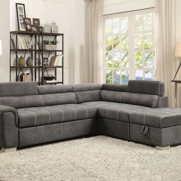 thelma pull out bed sectional acme 50275_AV