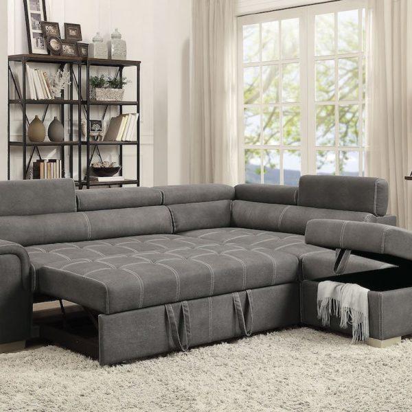 thelma sleeper sofa sectional acme 50275