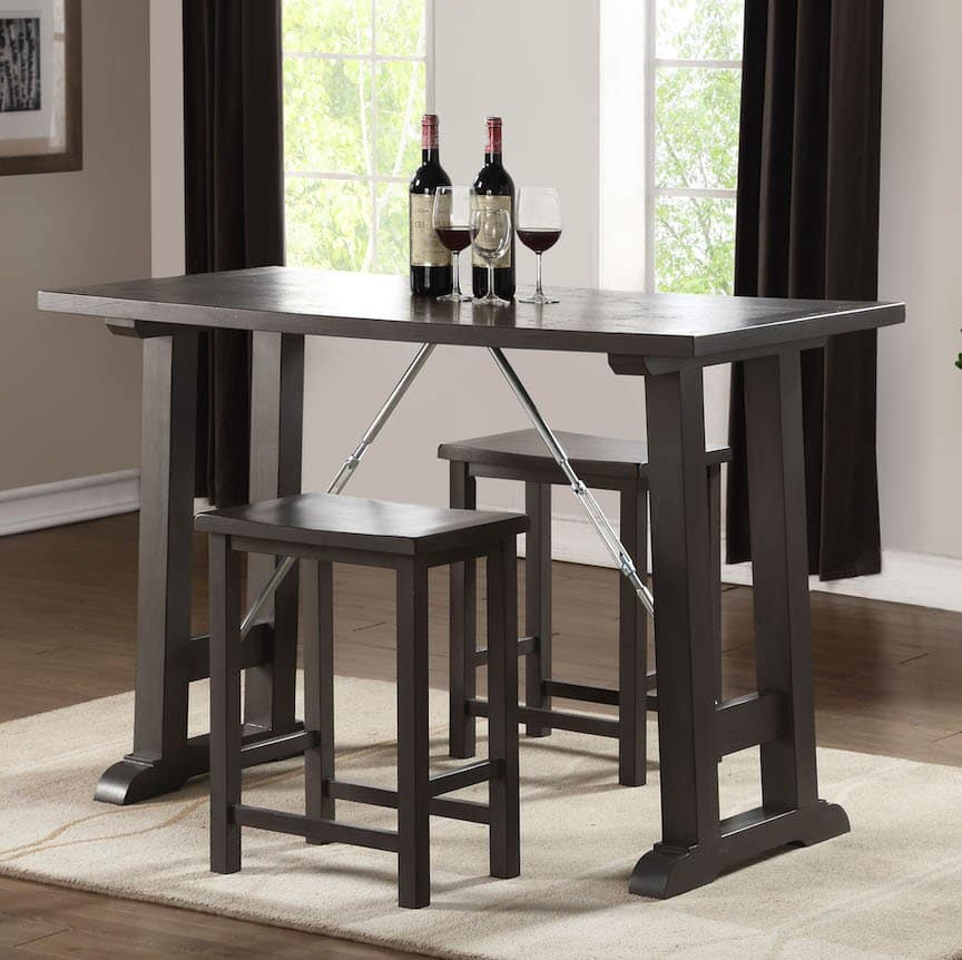 filbert gray dining table acme 72075