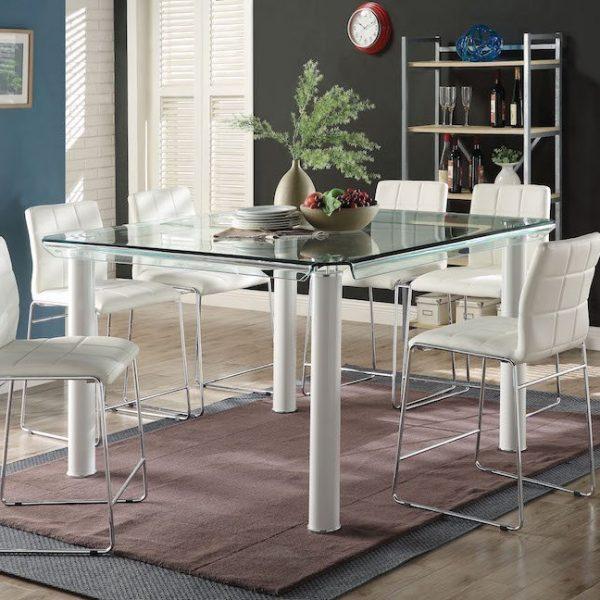 gordie white dining set acme 70250+70254