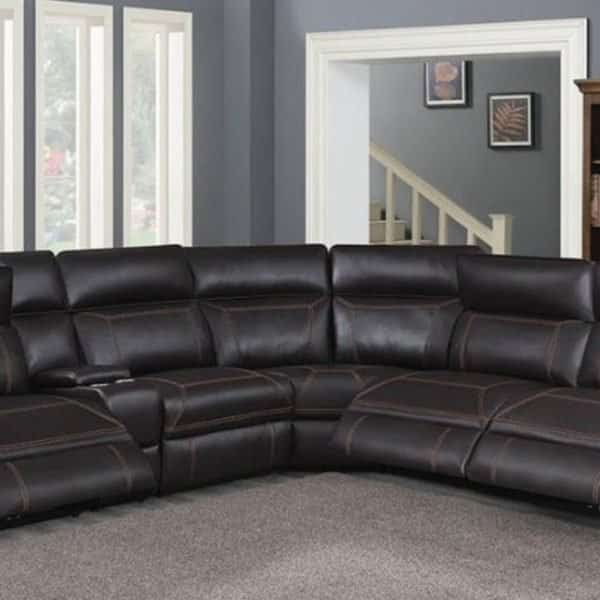 603290 albany brown coaster sectional sofa