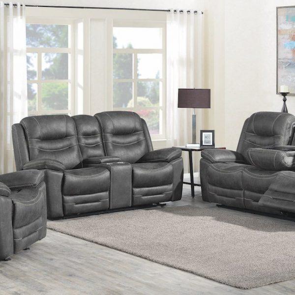 hemer grey livign room set 603341PP-S3