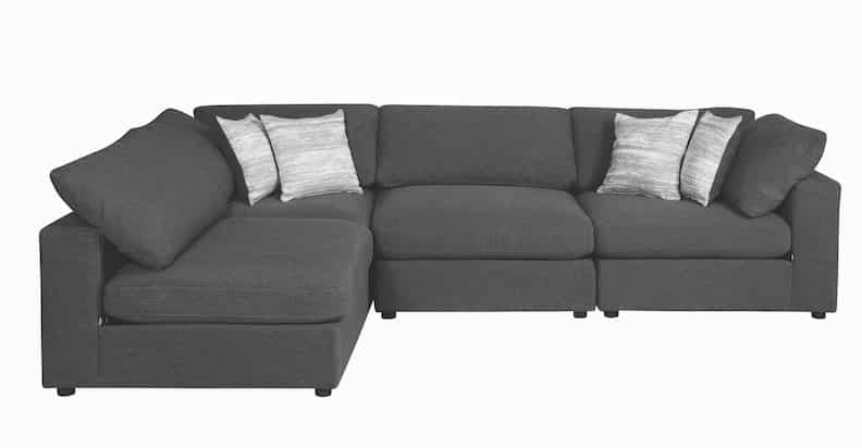 serene coaster sectional charcoal 551324_2a