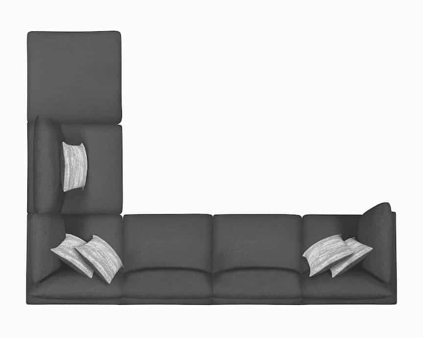 serene coaster sectional charcoal 551324_7a