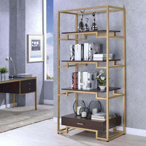 yumia 92787 bookcase acme