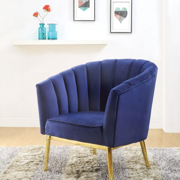 colla blue accent chair 59815