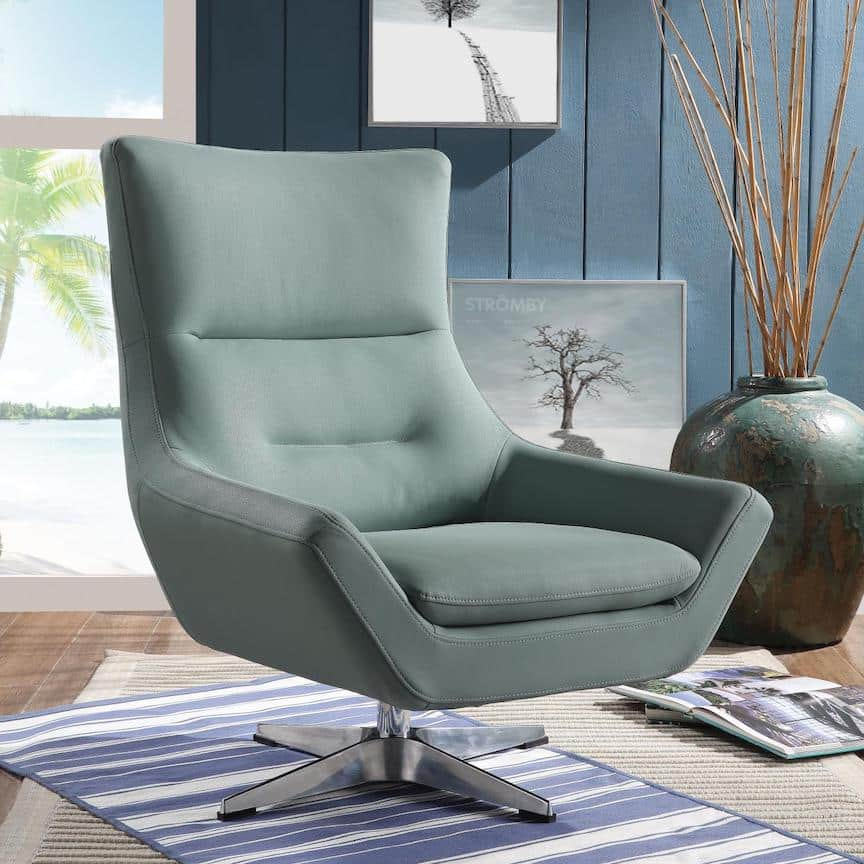gray accent chair acme 59731
