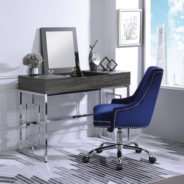 saffron dark grey vanity desk 90317+92500