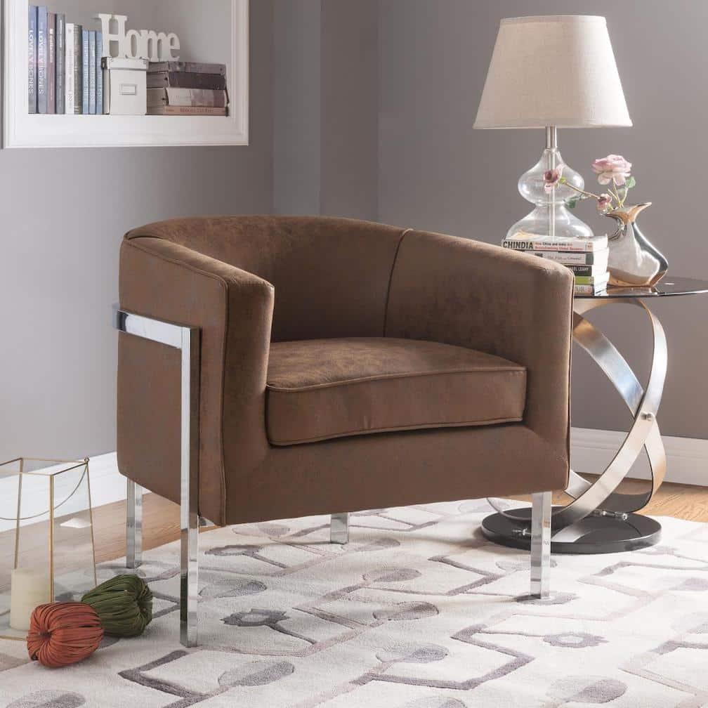 tiarnan brown accent chair 59810