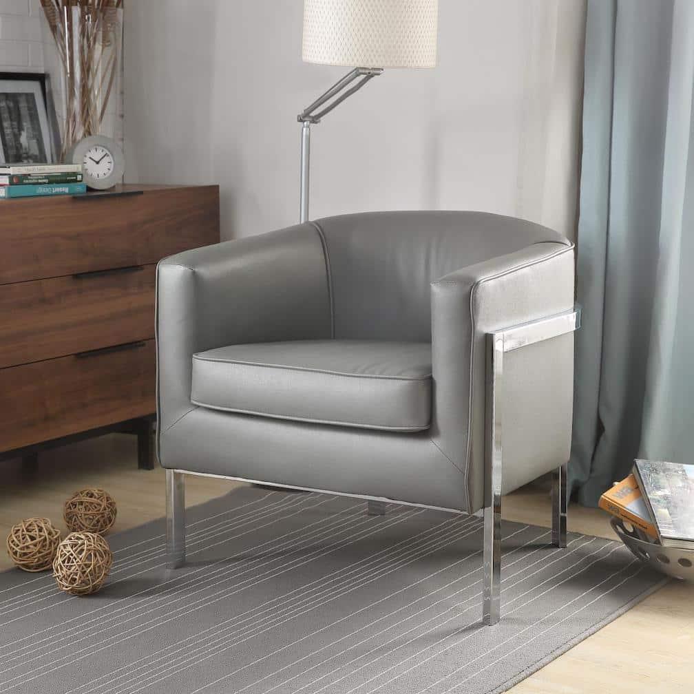 tiarnan gray accent chair 59811