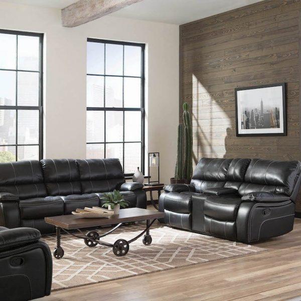 601935 willemse black reclining set coaster