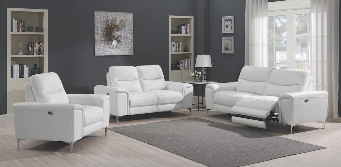 largo coaster leather set 603394P-S3