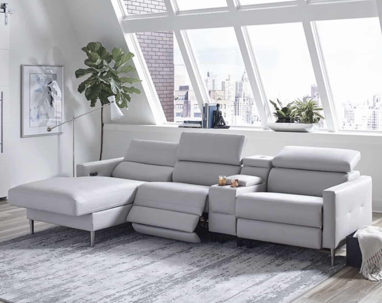 Beryl Power Motion Recliner Sectional Sofa | KFROOMS