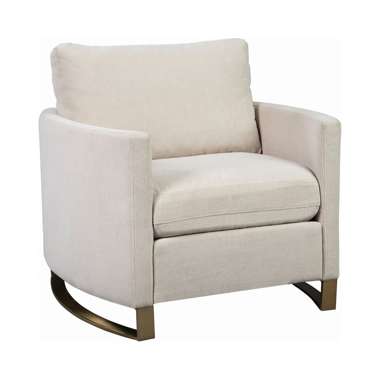 Corliss beige chenille chair, 508821,508822,508823