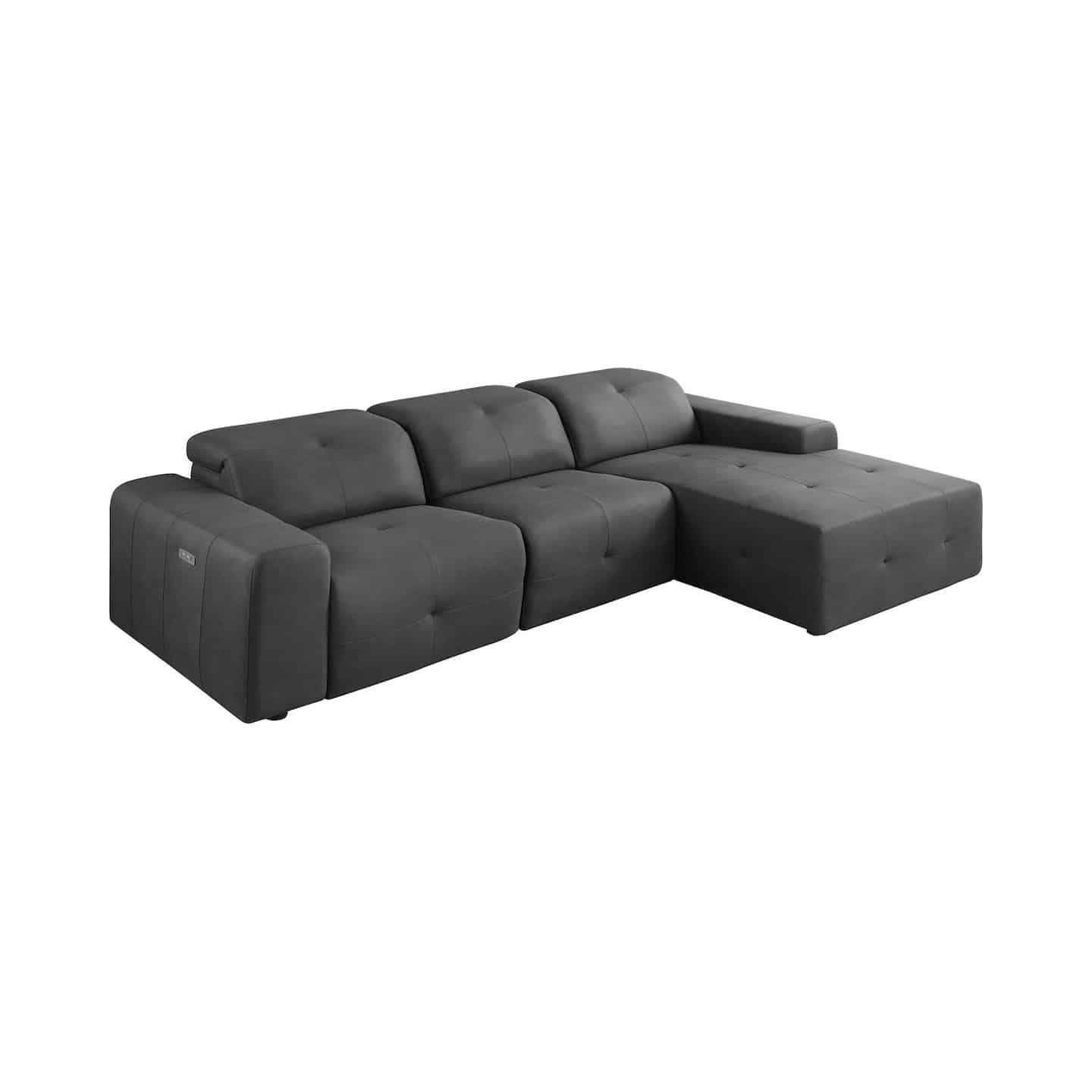 Eton Grey Modular Power Sectional Sofa Kfrooms