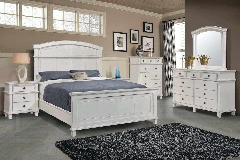 Carolina White Farmhouse Bedroom Set Kfrooms Free Delivery