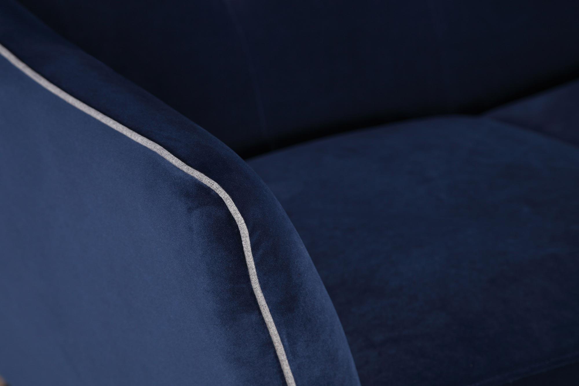 Norwalk Mid Century Blue Velvet Sofa Amp Chair Kfrooms Miami Amp La