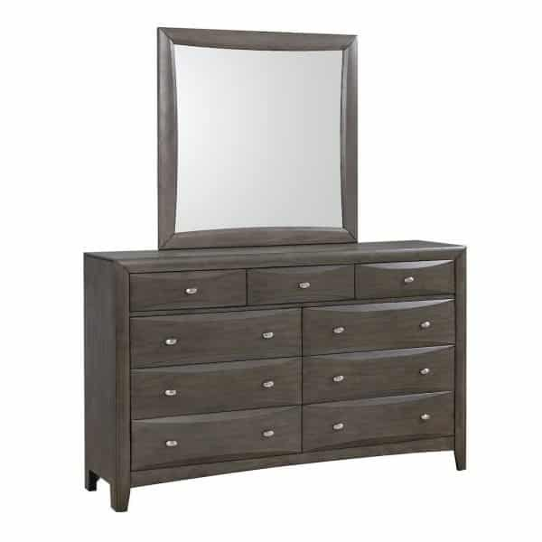 phoenix grey coaster dresser mirror 205473_1a