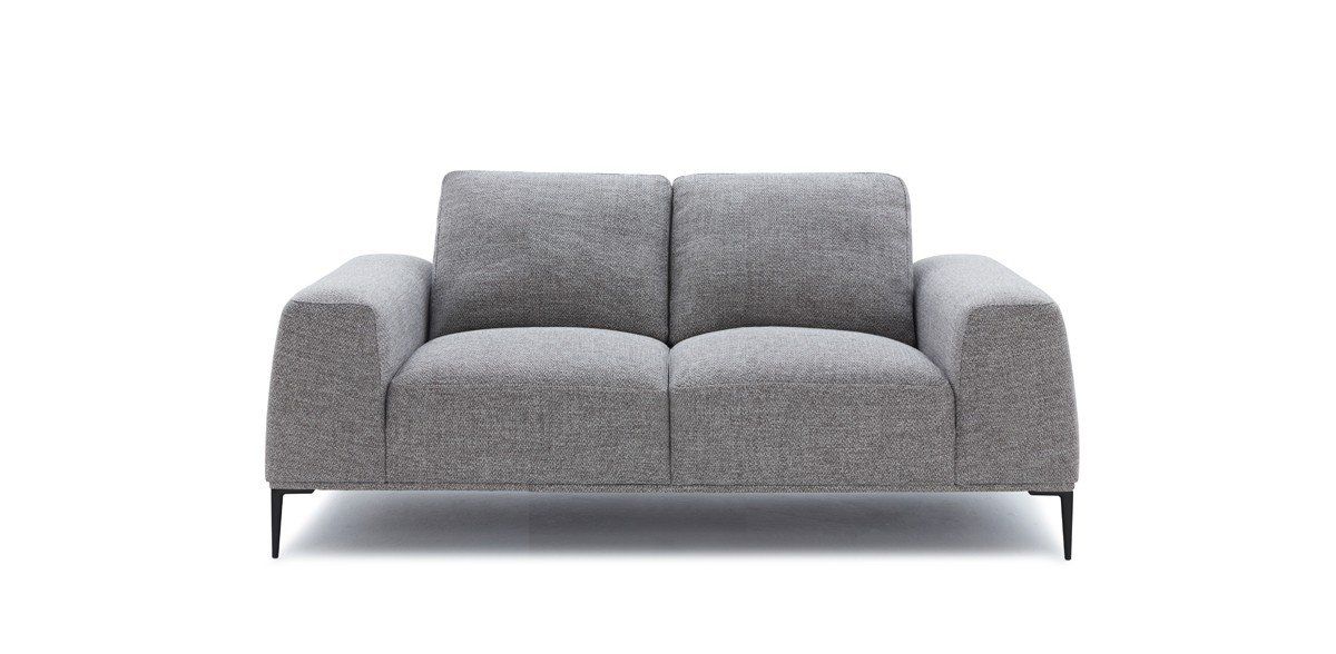 Divani Casa Arthur Modern Grey Fabric 2 Pc Sofa Loveseat