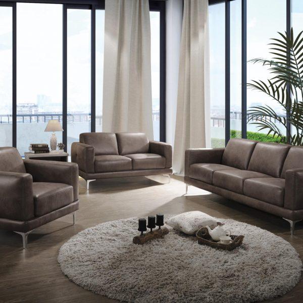 55080 brown acme sofa set