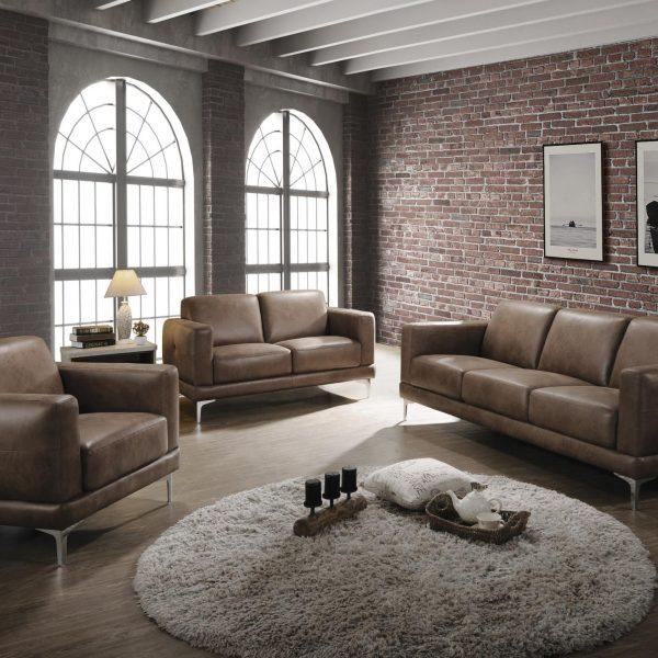 55085 reagan acme mocha sofa set