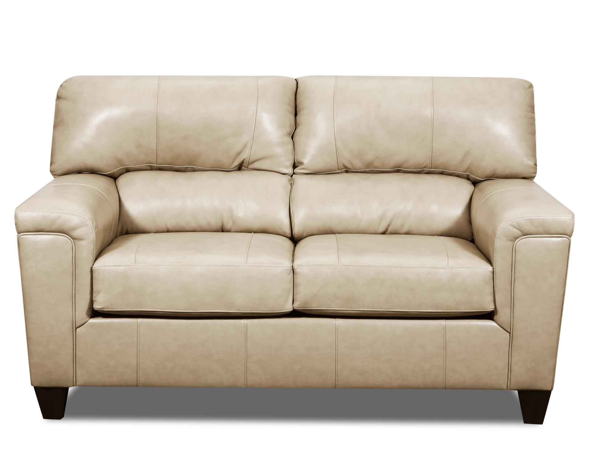 phygia tan leather loveseat 55761