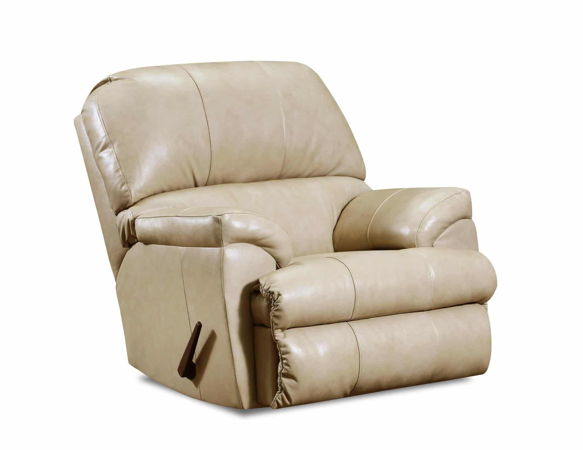 phygia tan leather recliner chair 55762