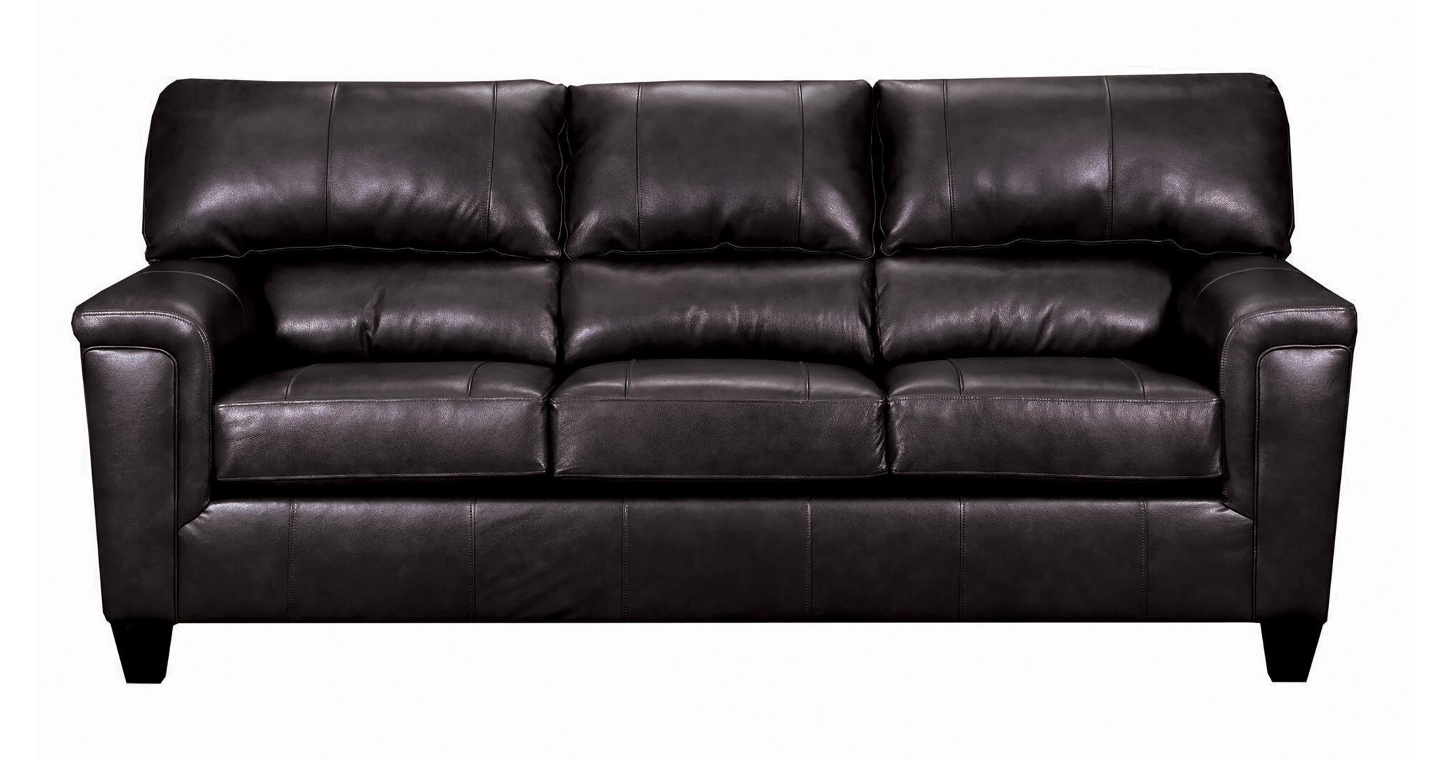 55765 phygia espresso brown leather sofa