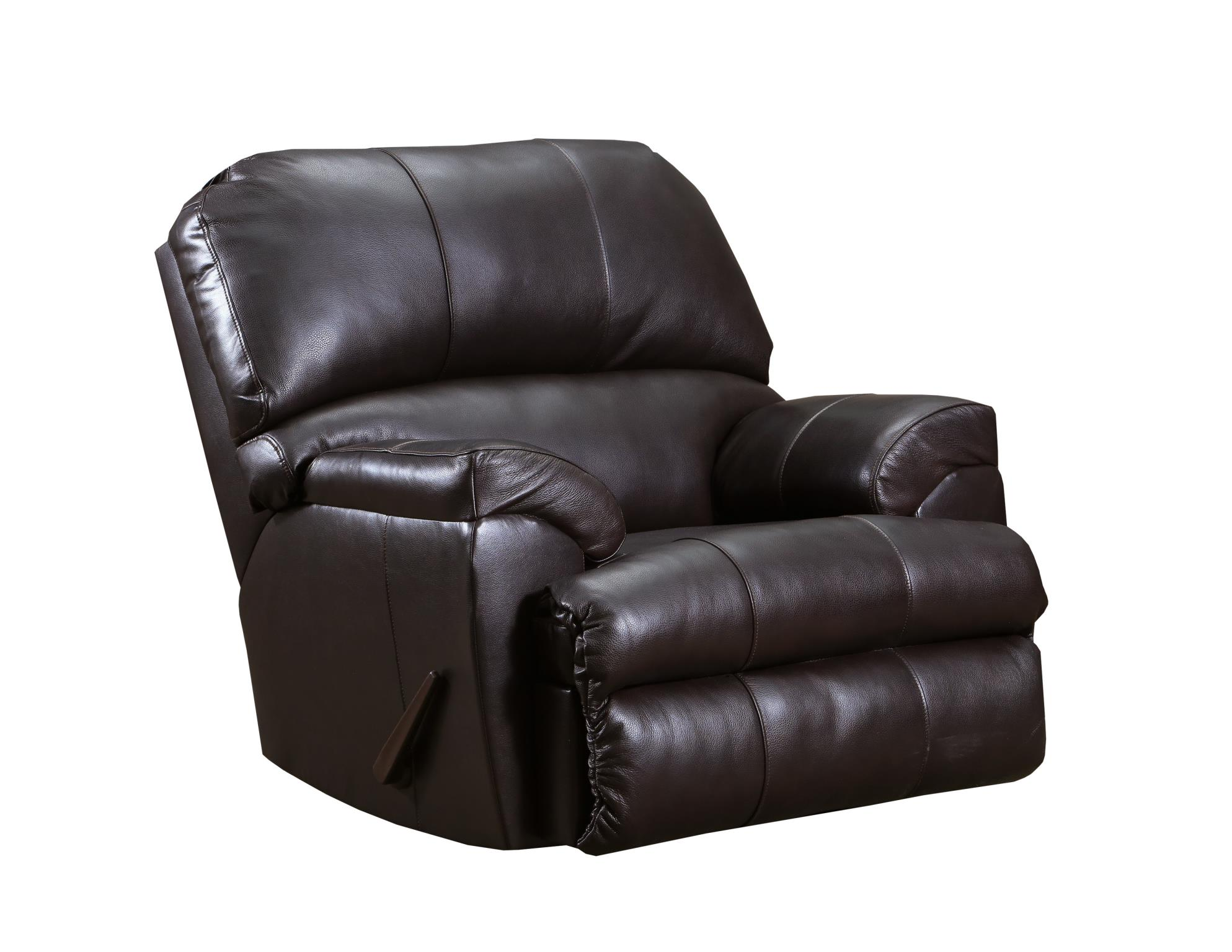 55767 phygia espresso brown leather recliner chair