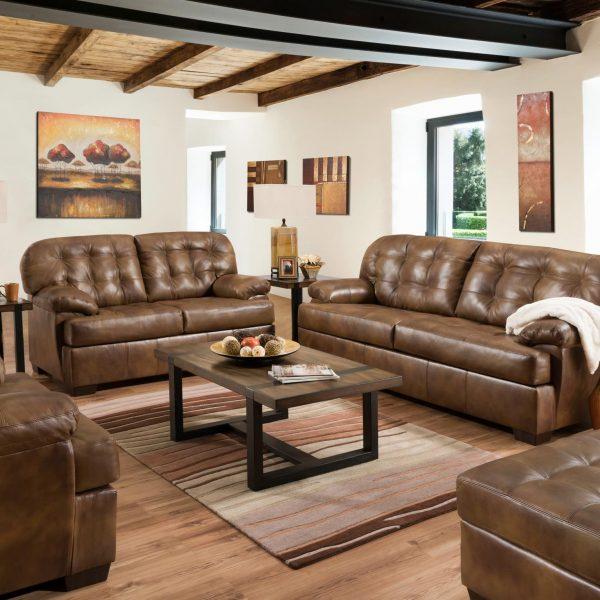 saturio brown leather sofa 55775