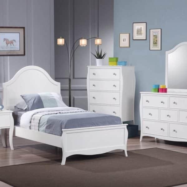 400561F-S4_21 dominique coaster white bedroom set