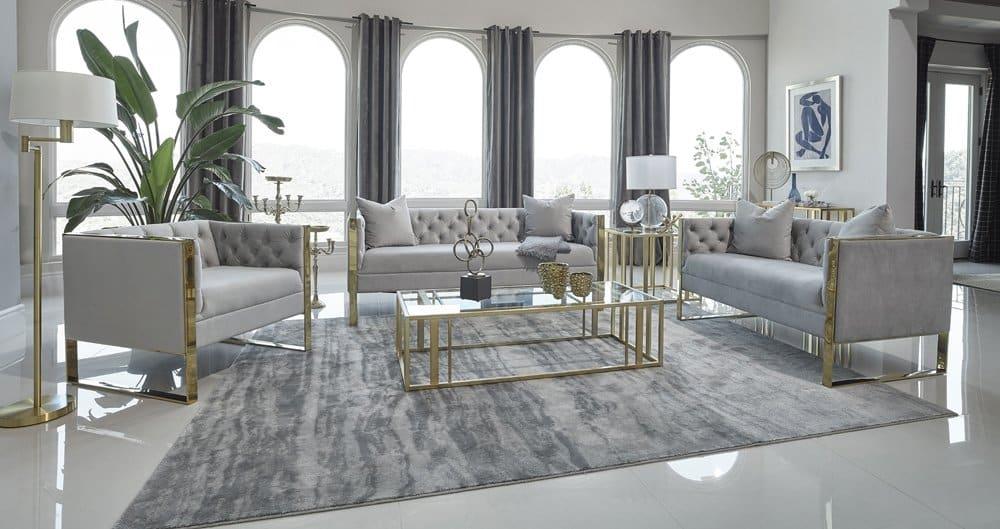 Eastbrook Glam Modern Living Room Set Kfrooms