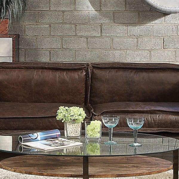 Porchester top grain leather sofa 52480